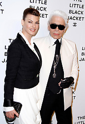 Linda Evangelista and Karl Lagerfeld attend the Chanel: The Little Black Jacket Exhibition at the Swiss Institute in New York City City, NY, USA on June 6, 2012. Photo by Donna Ward/ABACAPRESS.COM