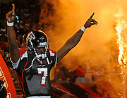 Atlanta Falcons QB Michael Vick comes out of the tunnel during pre-game introductions before the game against the New Orleans Saints at the Georgia Dome in Atlanta, GA on December 12, 2005.  The Falcons beat the Saints 36-17.