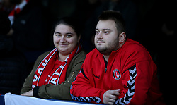 Charlton Athletic fans before the game