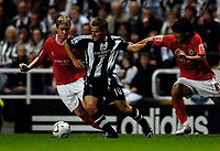 Photo: Jed Wee/Sportsbeat Images.<br /> Newcastle United v Barnsley. Carling Cup. 29/08/2007.<br /> <br /> Newcastle's Michael Owen (C) continues his return from injury.
