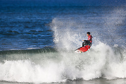 October 25, 2017 - Former World Champion Gabriel Medina of Brazil advances to the Semifinals of the MEO Rip Curl Pro Portugal after defeating 3X World Champion Mick Fanning of Australia in Quarterfinal Heat 4 at Supertubos, Peniche, Portugal...MEO Rip Curl Pro Portugal 2017, Oeste Subregion, Portugal - 25 Oct 2017 (Credit Image: © Rex Shutterstock via ZUMA Press)
