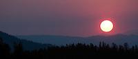 Sunrise over the Washburn Range, Yellowstone National Park, Wyo.