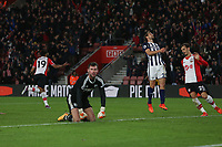 Football - 2017 / 2018 Premier League - Southampton vs. West Bromwich Albion<br /> <br /> Southampton's Sofiane Boufal celebrates his goal at St Mary's Stadium Southampton<br /> <br /> COLORSPORT/SHAUN BOGGUST