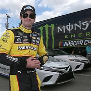 Ryan Blaney is seen during practice for the 60th Annual NASCAR Daytona 500 auto race at Daytona International Speedway on Friday, February 16, 2018 in Daytona Beach, Florida.  (Alex Menendez via AP)