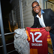 Ivory Coast and former Chelsea striker Didier Drogba Turkish soccer club Galatasaray new player Wesley Sneijder, his arrival at the Florya Metin Oktay Sports Center in Istanbul Turkey on in Istanbul, Turkey, Friday, February 8, 2013. Drogba, 34, has signed a one-and-a-half year contract with Turkey's Galatasaray. Photo by TURKPIX