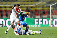 Nabil FEKIR / WALLACE - 01.02.2015 - Monaco / Lyon - 23eme journee de Ligue 1 -<br />