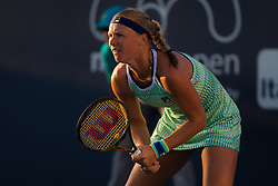 March 23, 2019 - Miami, FLORIDA, USA - Kiki Bertens of the Netherlands in action during her third-round match at the 2019 Miami Open WTA Premier Mandatory tennis tournament (Credit Image: © AFP7 via ZUMA Wire)