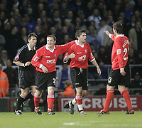 Tony Thorpe celebrates after scoring<br /> Ipswich Town v Rotherham United, 05/04/05<br /> Picture by Barry Bland