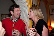 TOM SYKES; ALICE SYKES, PARTY FOR BLOW BY BLOW BY DETMAR BLOW AND TOM SYKES. ANNABEL'S. BERKELEY SQ. LONDON. 21 SEPTEMBER 2010. -DO NOT ARCHIVE-© Copyright Photograph by Dafydd Jones. 248 Clapham Rd. London SW9 0PZ. Tel 0207 820 0771. www.dafjones.com.