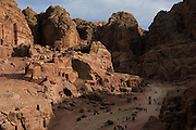 The Nabatean tombs of Petra, Jordan, were taken over by the Romans as they lay on the old frankincense trade routes. The Royal Tombs.
