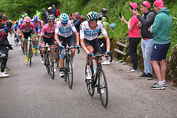 May 19, 2018 - Monte Zoncolan, ITALY - Dutch Wout Poels of Team Sky pictured in action on the Monte Zoncolan climb during stage 14 of the 101st edition of the Giro D'Italia cycling tour, 186km from San Vito al Tagliamento - Monte Zoncolan, Italy, Saturday 19 May 2018...BELGA PHOTO YUZURU SUNADA FRANCE OUT (Credit Image: © Yuzuru Sunada/Belga via ZUMA Press)
