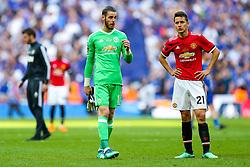 David De Gea and Ander Herrera of Manchester United look dejected after Chelsea win 1-0 to win the FA Cup - Rogan/JMP - 19/05/2018 - FOOTBALL - Wembley Stadium - London, England - Chelsea v Manchester United - FA Cup Final.