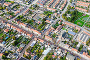 Nederland, Zeeland, Zeeuws-Vlaanderen, 19-10-2014; centrum Breskens met dorpsstraat.<br /> Downtown Breskens with its mainstreet Villagestreet (Dorpsstraat).<br /> <br /> luchtfoto (toeslag op standard tarieven);<br /> aerial photo (additional fee required);<br /> copyright foto/photo Siebe Swart
