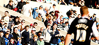 Photo: Alan Crowhurst.<br />Millwall v Swansea City. Coca Cola League 1. 31/03/2007.<br />Swansea's Lee Trundle (R) is watched by the Millwall fans.