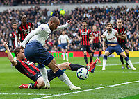 Football - 2018 / 2019 Premier League - Tottenham Hotspur vs. Huddersfield Town<br /> <br /> Lucas Moura (Tottenham FC)  attempts the cross as Jon Gorenc Stankovic (Huddersfield Town) blocks at The Tottenham Hotspur Stadium.<br /> <br /> COLORSPORT/DANIEL BEARHAM