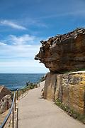 Bondi Sandstone rocks next to Coogee to Bondi beach Coastal path