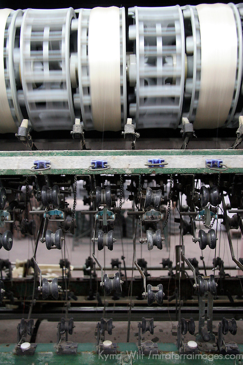 Asia, China, Suzhou. A factory room in Suzhou demonstrates the process of sericulture.