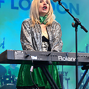 Massaoke live performances show with music and dane was given to the Thousands who packed in Trafalgar Square to celebrate St Patrick day 2019 on 17 March 2019, London, UK.