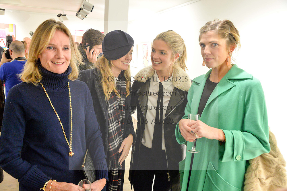 Left to right, LADY MARY-GAYE CURZON and her daughters, CRESSIDA BONAS, ISABELLA BRANSON and artist GEORGIANA ANSTRUTHER at a private view entitled Stop Making Sense featuring work by Georgiana Anstruther and Carol Corell held at Lacey Contemporary, 8 Clarendon Cross, London on 9th March 2016.