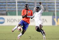 Fotball<br /> U20 Ghana v Nederland<br /> Foto: Dppi/Digitalsport<br /> NORWAY ONLY<br /> <br /> FOOTBALL - UNDER 20 - INTERNATIONAL TOULON FESTIVAL - 01/06/2007 - GHANA v NETHERLANDS - DOMINIQUE KIVUVU (NET) / SEIDU YAHAYA (GHA)