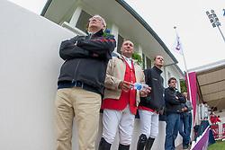 Guerdat Philippe (SUI), Le Jeune Philippe (BEL), Wathelet Gregory (BEL)<br /> FEI Nations Cup La Baule 2012<br /> © Dirk Caremans