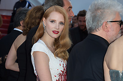 Jessica Chastain and President of the jury Pedro Almodovar attending the Closing Ceremony during the 70th annual Cannes Film Festival held at the Palais Des Festivals in Cannes, France on May 28, 2017 as part of the 70th Cannes Film Festival. Photo by Nicolas Genin/ABACAPRESS.COM