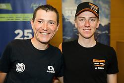 Jani Brajkovic and Tadej Pogacar during press conference of cycling race Tour Slovenia 2018, on May 17, 2018, in Ljubljana, Slovenia. Photo by Vid Ponikvar / Sportida