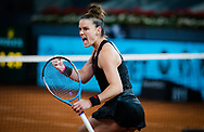 Maria Sakkari of Greece in action during her third round match at the Mutua Madrid Open 2021, Masters 1000 tennis tournament on May 4, 2021 at La Caja Magica in Madrid, Spain - Photo Rob Prange / Spain ProSportsImages / DPPI / ProSportsImages / DPPI