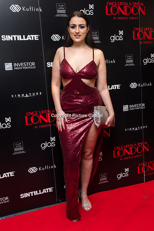 Amel Rachedi  Arrivers at Once Upon a Time in London - London premiere of the rise and fall of a nationwide criminal empire that paved the way for notorious London gangsters the Kray Twins and the Richardsons at The Troxy 490 Commercial Road, on 15 April 2019, London, UK.