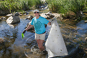 La Gran Limpieza, FoLAR River clean-up April 17, 2016, Los Angeles River, Glendale Narrows, Los Angeles, California, USA
