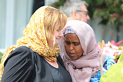 March 16, 2019 - Christchurch, New Zealand - Christchurch member of parliament Megan Woods meets with members of the Moslem community in the wake of the mass shooting at the two Christchurch mosques, Christchurch, New Zealand, Saturday, March 16, 2019. (Credit Image: © SNPA/ZUMA Wire/ZUMAPRESS.com)