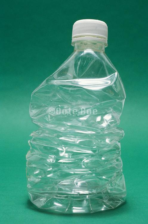 crumpled water bottle