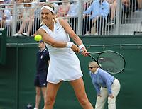 Tennis - 2019 Wimbledon Championships - Week One, Wednesday (Day Three)<br /> <br /> Women's Singles, 2nd Round: Victoria Azarenka (BLR) v Ajia Tomijanovic (AUS)<br /> <br /> Victoria Azarenka  on  Court 12<br /> <br /> COLORSPORT/ANDREW COWIE