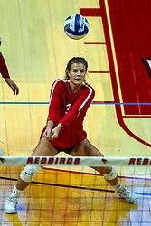 BLOOMINGTON, IL - September 14: Kaity Weimerskirch during a college Women's volleyball match between the ISU Redbirds and the University of Central Florida (UCF) Knights on September 14 2019 at Illinois State University in Normal, IL. (Photo by Alan Look)