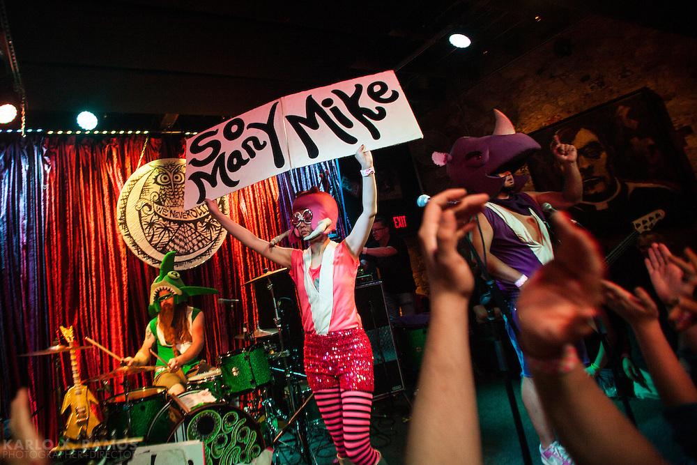 Peelander-Z performing at Club Dada in Dallas, TX