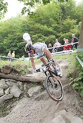 01.06.2014, Bullentaele, Albstadt, GER, UCI Mountain Bike World Cup, Cross Country Herren, im Bild Weltmeister Nino Schurter Schweiz // during Mens Cross Country Race of UCI Mountainbike Worldcup at the Bullentaele in Albstadt, Germany on 2014/06/01. EXPA Pictures © 2014, PhotoCredit: EXPA/ Eibner-Pressefoto/ Langer<br /> <br /> *****ATTENTION - OUT of GER*****