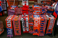 Dutch and England scarves being sold before the Friendly match between Netherlands and England at the Amsterdam Arena, Amsterdam, Netherlands on 23 March 2018. Picture by Phil Duncan.