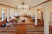 Interior of Saint Léon Church, established in 1894, St. Leon, Manitoba, Canada