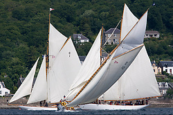 The Lady Anne 1912 a 15 metre tacks in front  of Mariquita 1911 a 19 metre and Altair 1931 Schooner.<br /> <br /> * The Fife Yachts are one of the world's most prestigious group of Classic  yachts and this will be the third private regatta following the success of the 98,  and 03 events.  <br /> <br /> Marc Turner / PFM Pictures