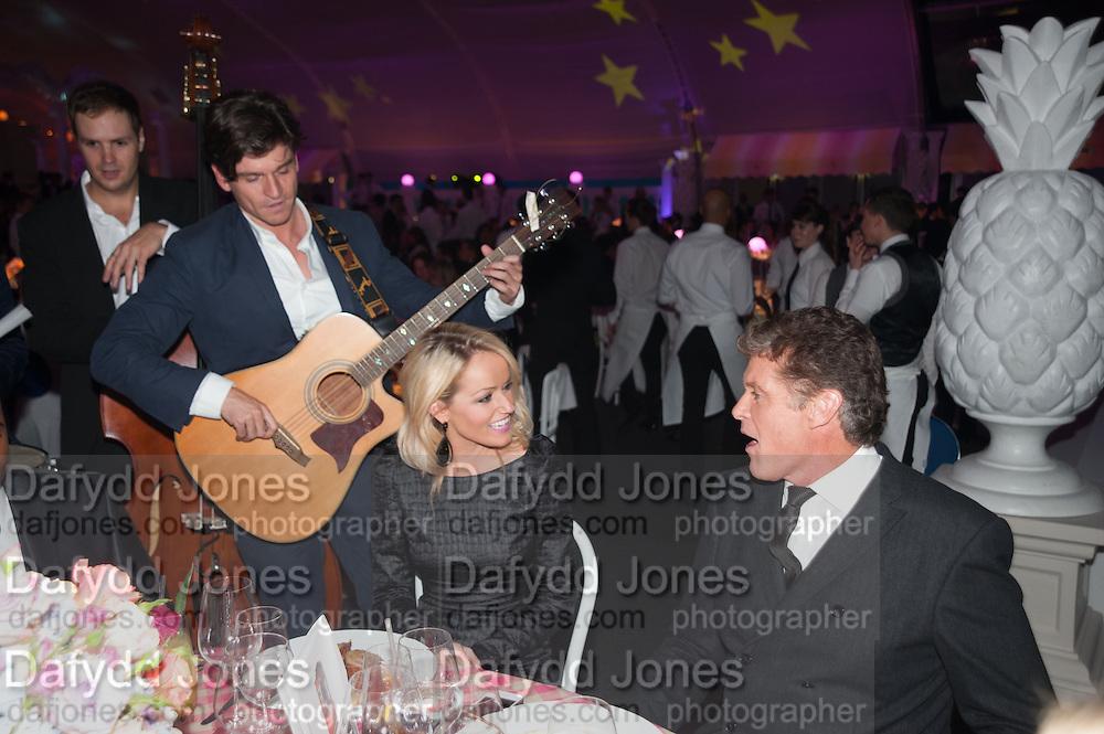Hayley Roberts; David Hasselhoff; JASON KING; GYPSY QUEENS, Grey Goose Winter Ball to benefit the Elton John Aids Foundation. Battersea Power Station. London. 10 November 2012.