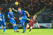 Ryan Delaney was a header during the EFL Sky Bet League 1 match between Rochdale and Bradford City at Spotland, Rochdale, England on 29 December 2018.