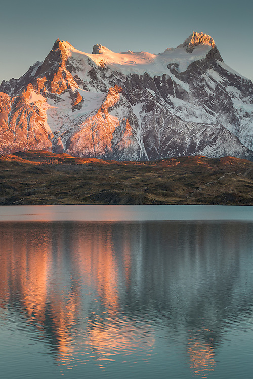 """""""A picture is a poem without words."""" ~Quintus Horatius Flaccus<br /> <br /> Taken on Pehoe Lake at sunrise, Torres del Paine National Park, Chilean Patagonia."""
