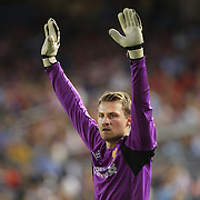 Simon Mignolet, Liverpool, in action during the Manchester City Vs Liverpool FC Guinness International Champions Cup match at Yankee Stadium, The Bronx, New York, USA. 30th July 2014. Photo Tim Clayton