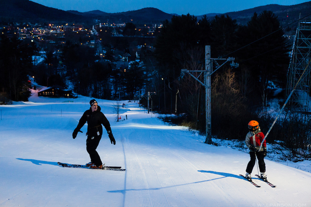 """Alpine ski coach Rick Colt of Hanover, N.H., instructs Daniel Mladek, 10, of Lebanon, N.H., at Storrs Hill Ski Area in Lebanon on January 30, 2014. """"I always say if you teach someone to turn well they're going to become a much better skier,"""" said Colt, who has coached Olympian Mikaela Shiffrin of the U.S. Women's Ski Team. (Valley News - Will Parson)"""