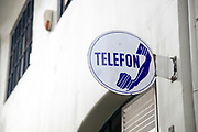 Telephone sign, Photographed in Bucharest, Romania