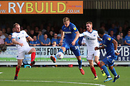 AFC Wimbledon striker Joe Pigott (39) controlling the ball during the EFL Sky Bet League 1 match between AFC Wimbledon and Portsmouth at the Cherry Red Records Stadium, Kingston, England on 13 October 2018.