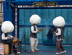 Edinburgh, Scotland, UK. 2 August 2019. On the opening day of the Edinburgh Festival Fringe the traditional band Korean Gipsy Sangjaru set out to create ingenious world music based on the Korean traditional culture and arts.