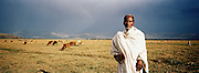 Portrait of cattle herder at Jimma, Ethiopia.