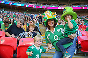 Young Fans during the Rugby World Cup Pool D match between Ireland and Romania at Wembley Stadium, London, England on 27 September 2015. Photo by Phil Duncan.
