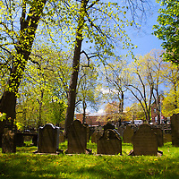 North America, Canada, Nova Scotia, Halifax. Old Burying Ground of St. Paul's Church Cemetery, a National Historic Site of Canada.